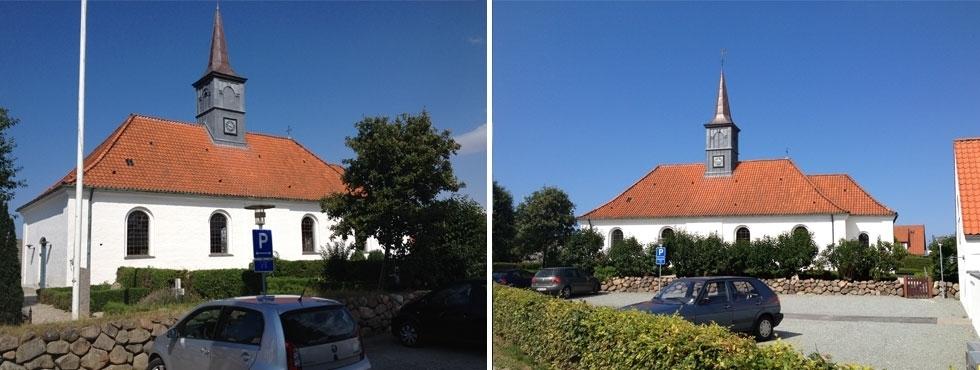 Smuk kirke som er værd at se i Hornbæk.